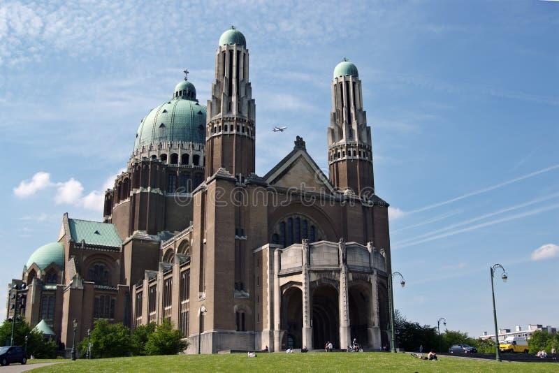 Basilica nazionale di Koekelberg, Bruxelles fotografia stock libera da diritti