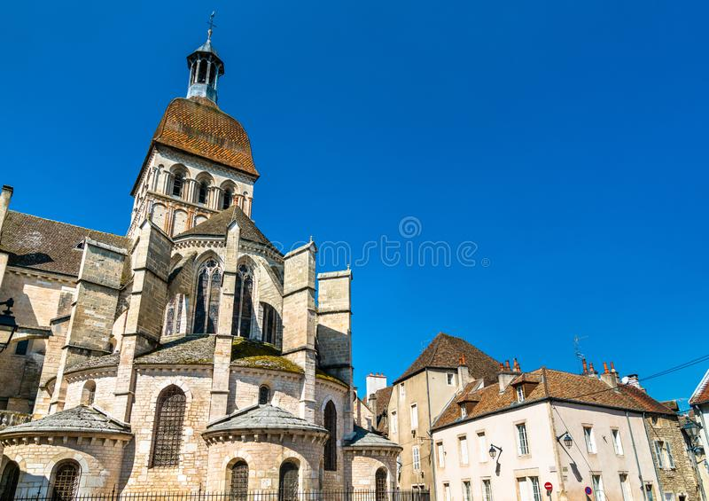 Basilica Notre Dame in Beaune, France. Basilica Notre Dame in Beaune - Burgundy, France stock photo