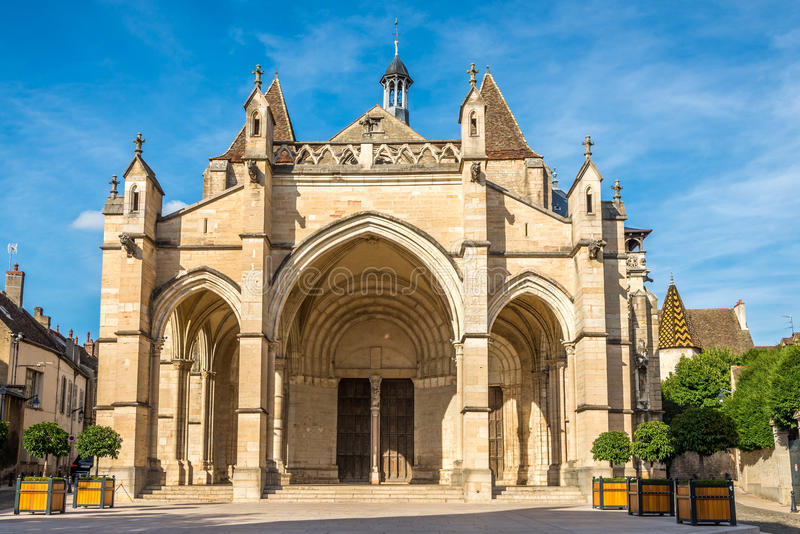 Basilica Notre Dame in Beaune. France stock photography