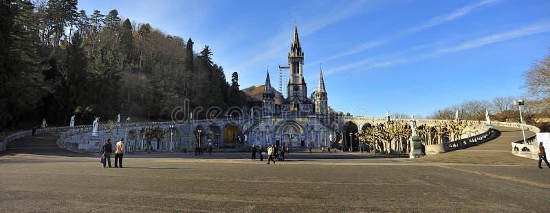 Basilica Notre Dame du Rosaire. Lourdes, France royalty free stock image
