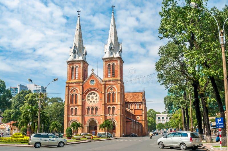 Basilica Notre-Dame. In Saigon royalty free stock image