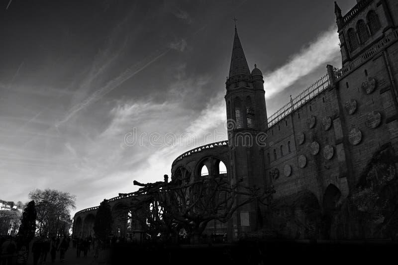 Basilica Notre dame du Rosaire, France stock photos