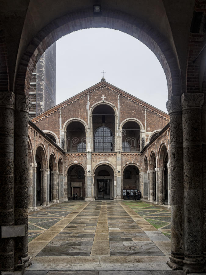 Free Basilica Of Sant Ambrogio, Milan, Italy Stock Images - 34362334