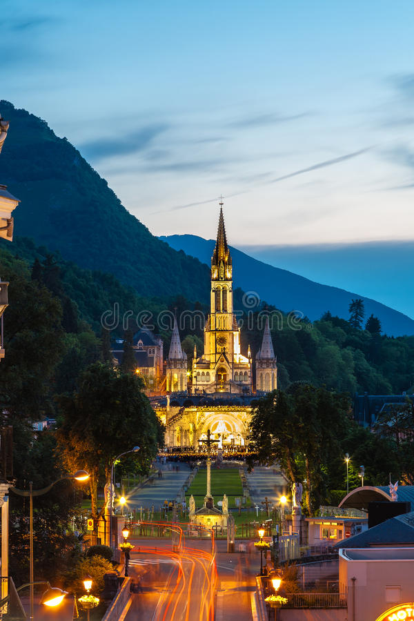 The Basilica Of Our Lady In Lourdes, France Editorial Stock Image