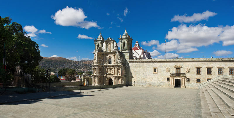 Basilica of Our Lady of Solitude in Oaxaca de Juarez, Mexico. Basilica of Our Lady of Solitude in Oaxaca de Juarez. Mexico stock photography