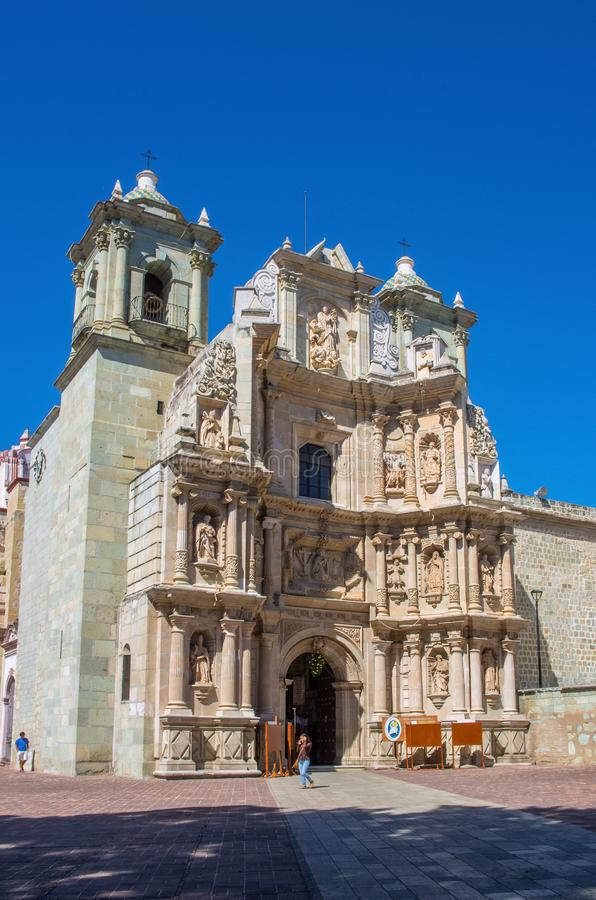 Basilica of Our Lady of Solitude in Oaxaca de Juarez, Mexico. Oaxaca, Mexico - November 21, 2016: Basilica of Our Lady of Solitude in Oaxaca de Juarez. Mexico royalty free stock image