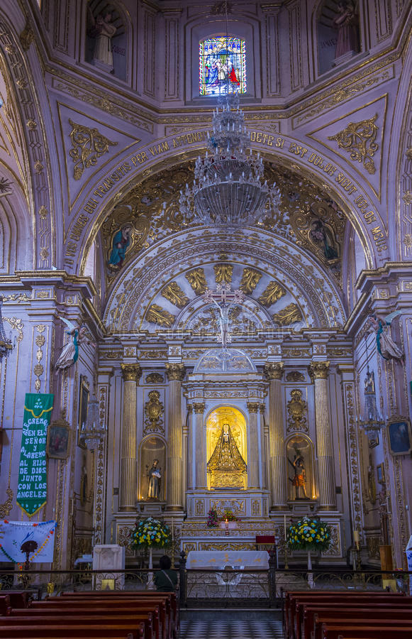 The Basilica of Our Lady of Solitude in Oaxaca Mexico stock photography