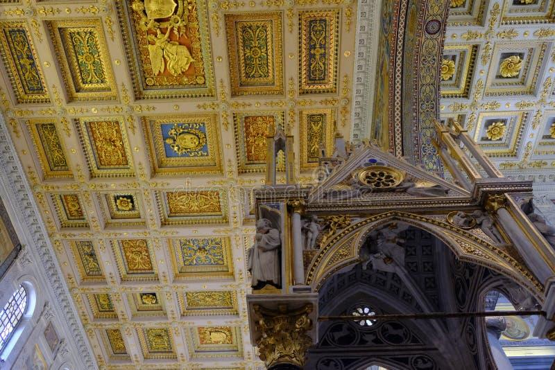 Basilica papale di St Paul fuori delle pareti a Roma immagini stock libere da diritti