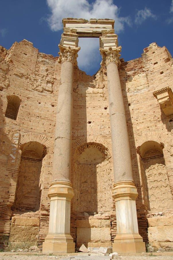 Basilica romana, Libia fotografia stock