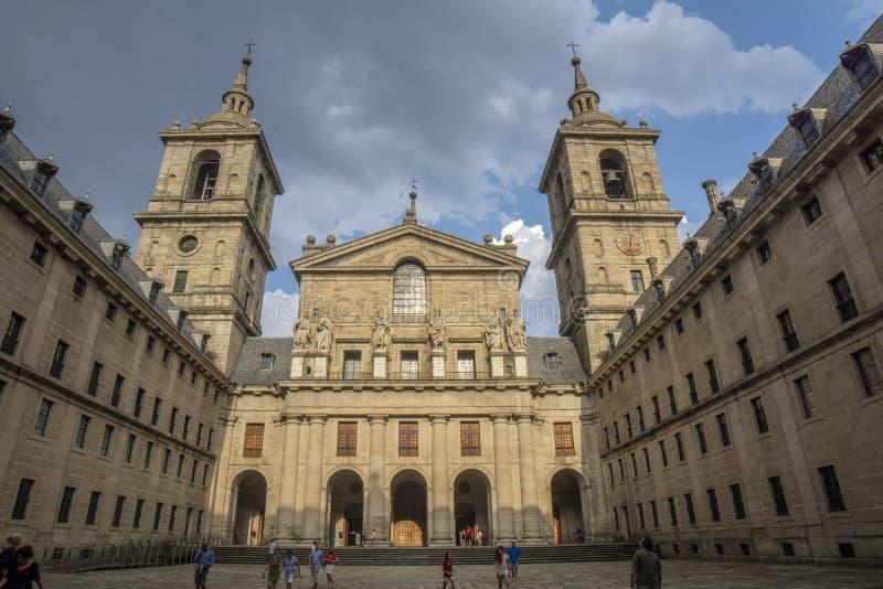 Basilica of royal site of san lorenzo de el escorial royalty free stock photography