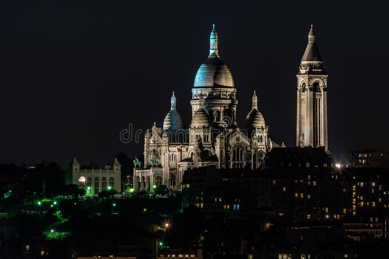 Basilica of the Sacred Heart at Montmartre stock photo
