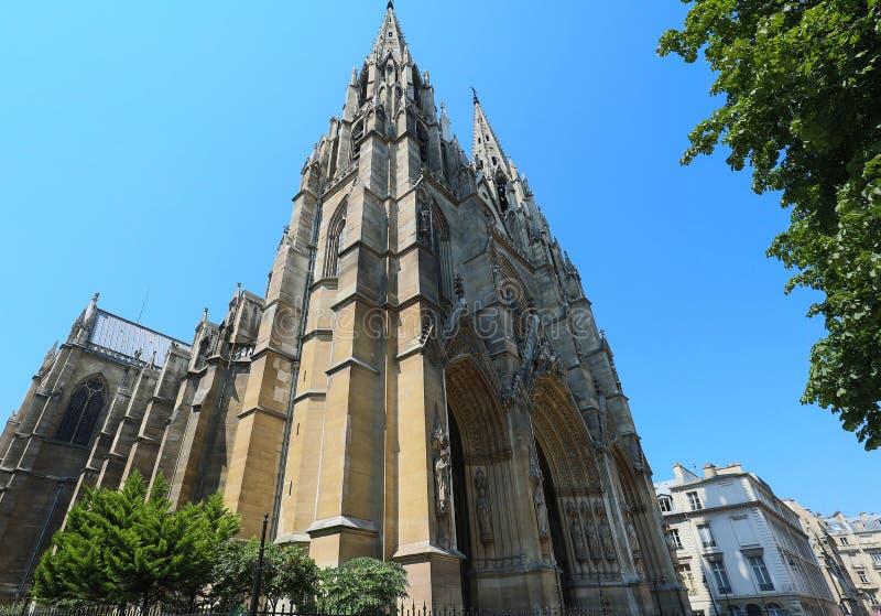 Basilica of Saint Clotilde , Paris, France. stock photos