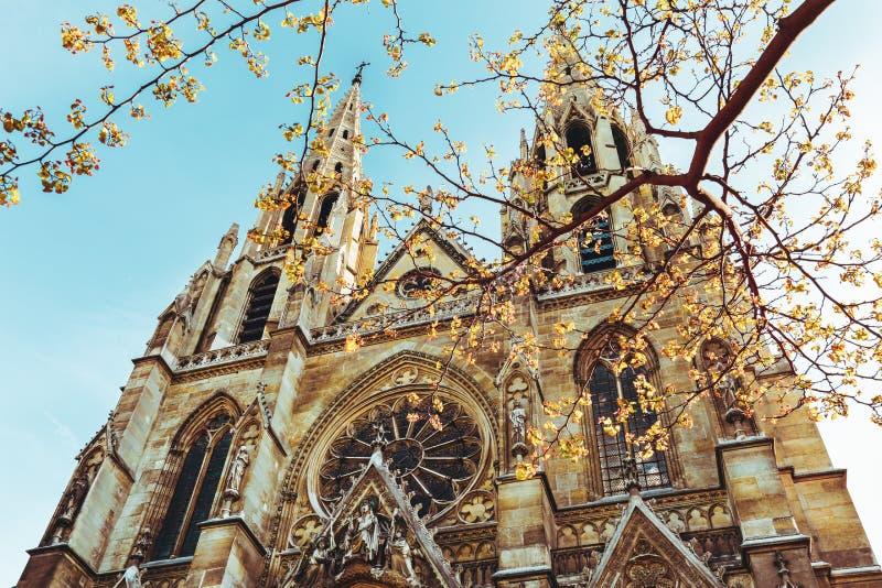 The Basilica of Saint Clotilde in Paris, France. royalty free stock photos