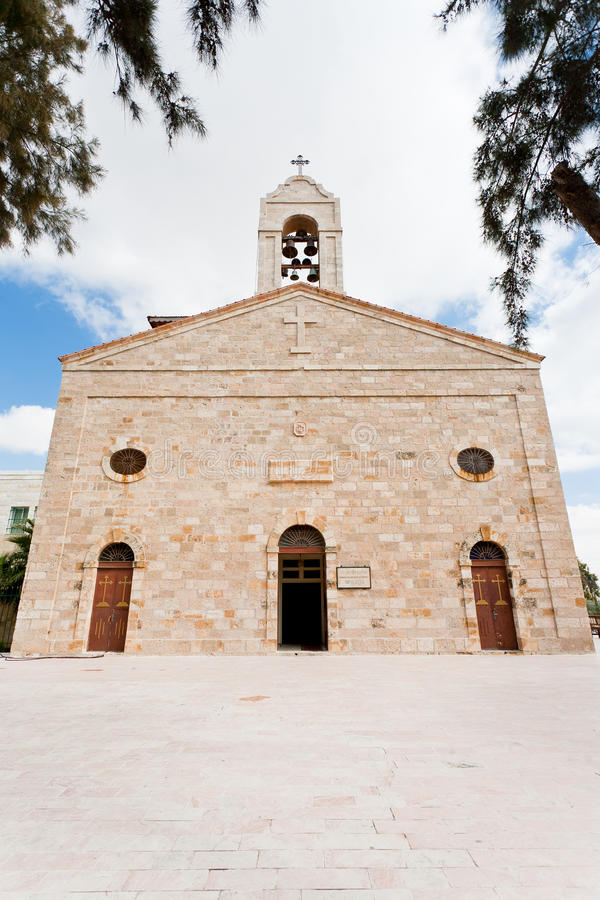 Basilica of Saint George in town Madaba royalty free stock images