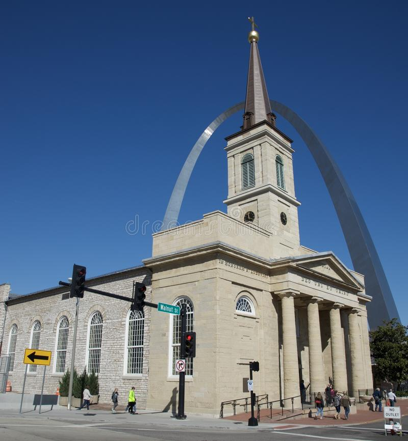 The Basilica of Saint Louis stock images