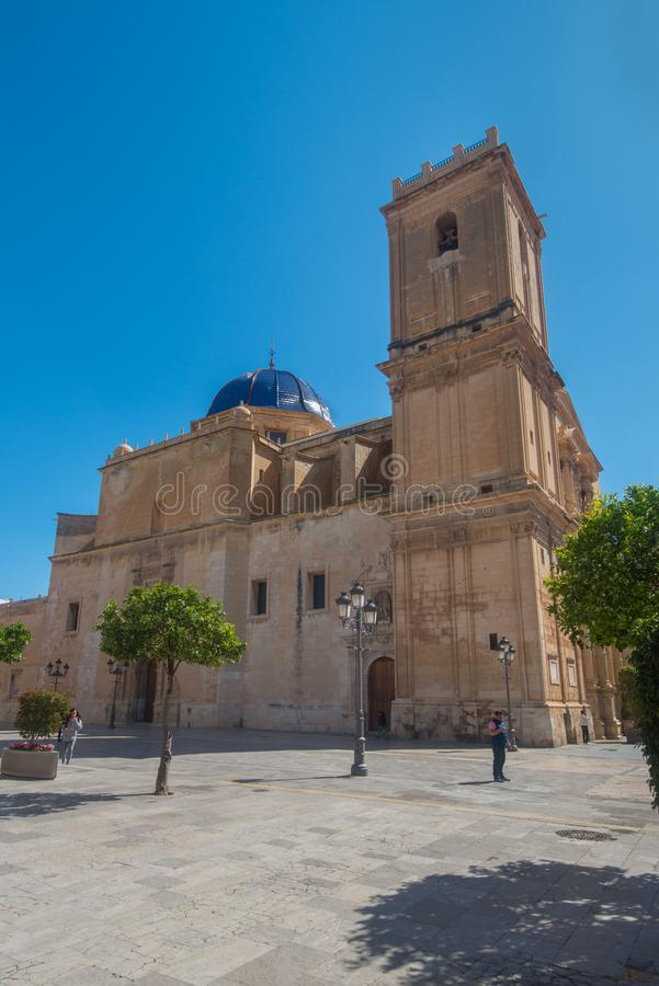Download Basilica Saint Mary in Elx editorial photography. Image of mary - 113363882