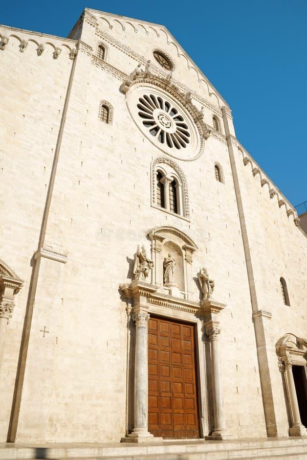 Basilica of Saint Nicholas in Bari stock photos