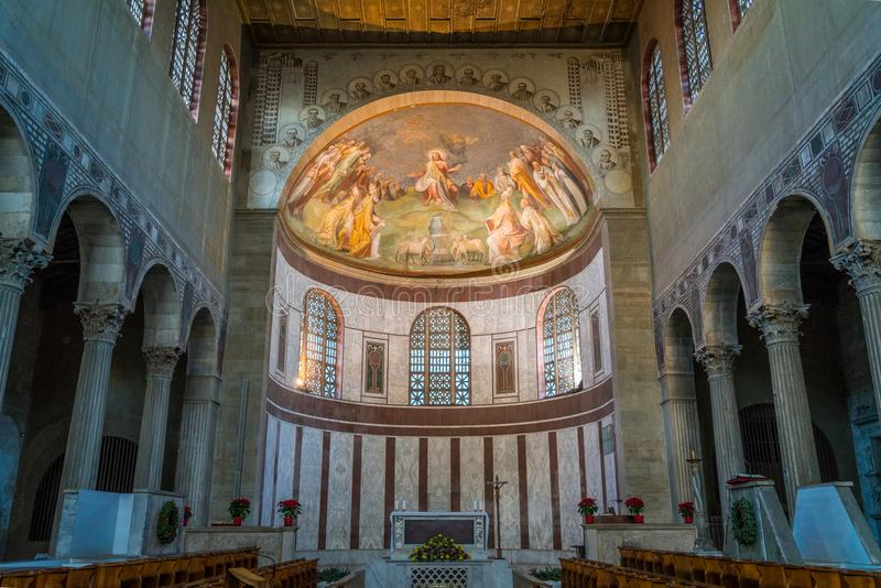 Basilica of Saint Sabina, historical church on the Aventine Hill in Rome, Italy. royalty free stock images