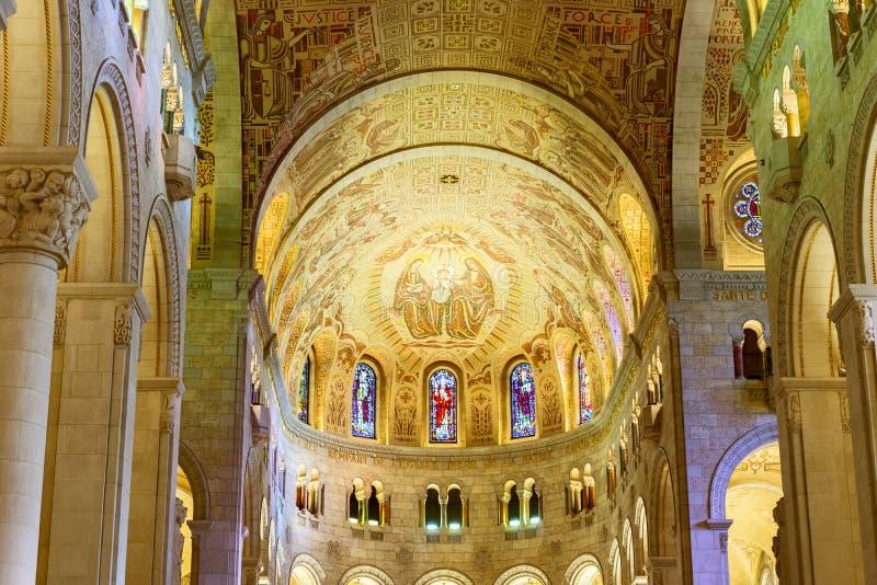 The Basilica of Sainte Anne de Beaupre in Quebec, Canada. stock image