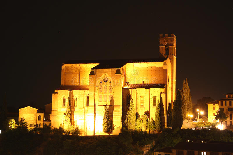 Download Basilica Of San Domenico In Siena At Night Stock Photography - Image: 32649072