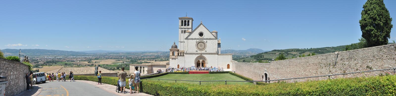 The Basilica of San Francesco. Assisi. Tuscany. Italy. stock photography
