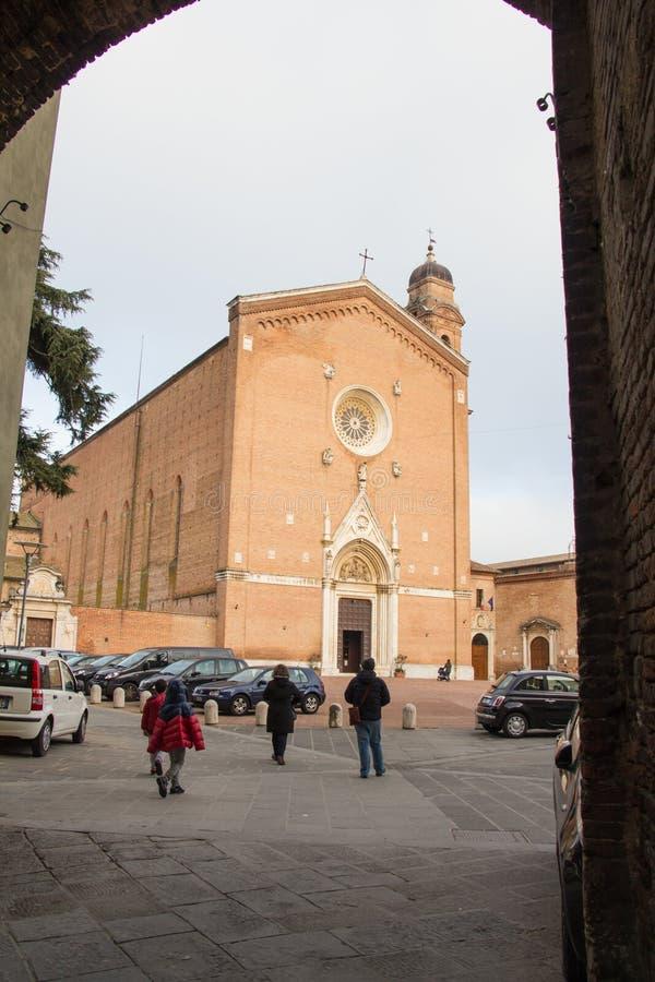 Basilica San Francesco in Siena. Tuscany, Italy. stock photo