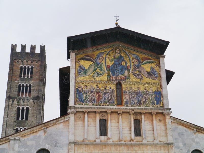The San Frediano church in Lucca stock image
