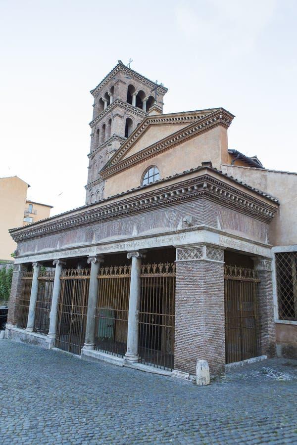 Basilica of San Giorgio in Velabro royalty free stock image