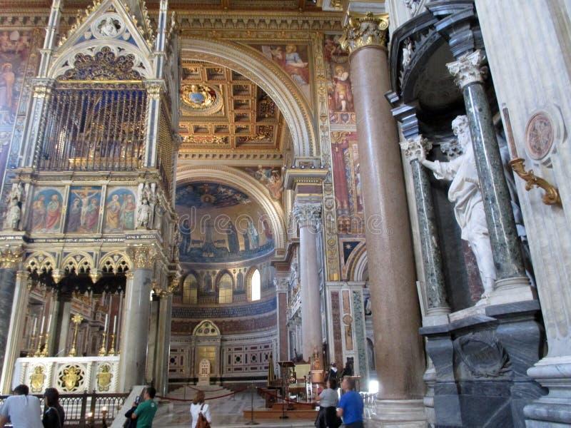 Interior Basilica San Juan de Letrán Roma Italy Europe. Basilica San Juan de Letrán is the oldest church in the world.Roma ItalynSan Juan de Letrán is stock image