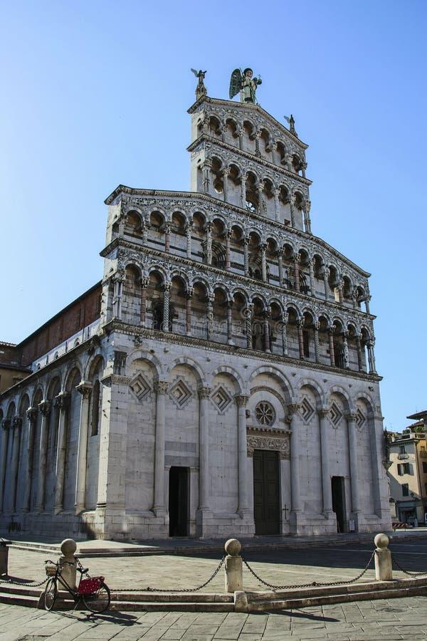 Basilica San Michele in foro, chiesa cattolica romana, Lucca, Tusc fotografia stock