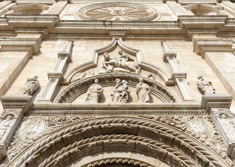 Basilica of San Nicola - Tolentino - Italy. Facade of the Basilica of San Nicola - Tolentino - Italy stock image