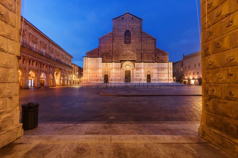 Basilica of San Petronio Bologna, Italy royalty free stock photos