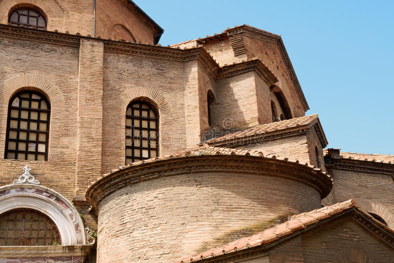 Basilica of San Vitale (Saint Vitalis) in Ravenna royalty free stock photo