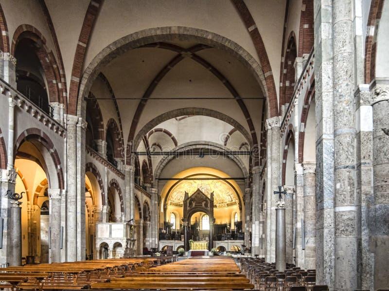 Basilica of Sant Ambrogio, Milan, Italy royalty free stock photo