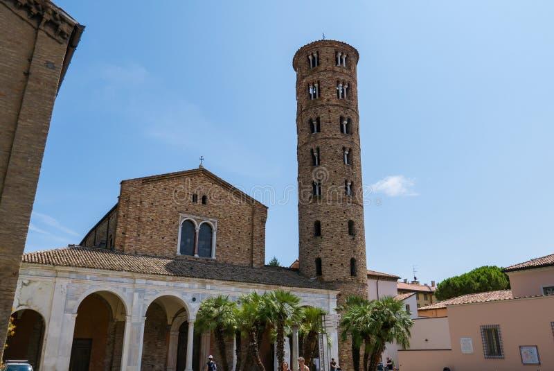Basilica of Sant Apollinare Nuovo in Ravenna. Italy. RAVENNA, ITALY 2018 AUGUST 03: Basilica of Sant Apollinare Nuovo in Ravenna. Italy stock photography