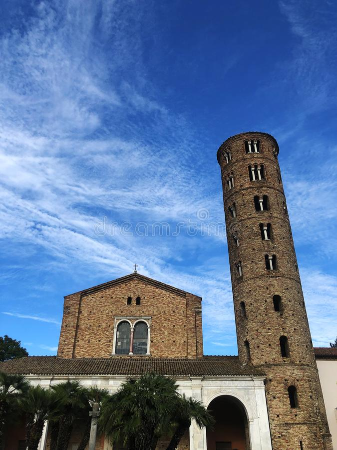 Basilica of Sant`Apollinare Nuovo, Ravenna, Italy. Facade. stock photos