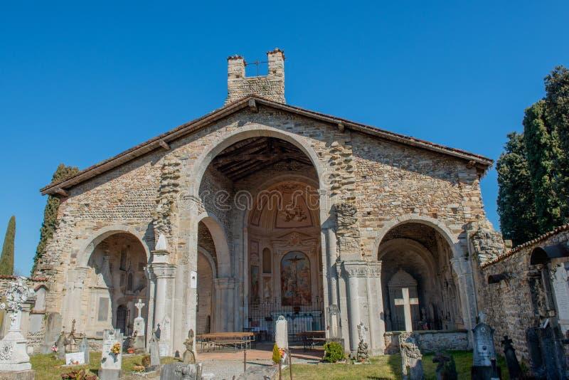 Basilica of Santa Giulia of Bonate Sotto stock photos