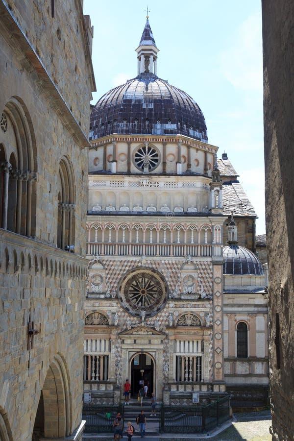 Basilica Santa Maria Maggiore della chiesa a Bergamo, Citta Alta fotografia stock libera da diritti