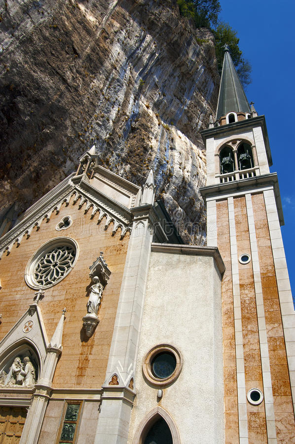 Download Basilica Santuario Madonna Della Corona - Italy Stock Image - Image: 27044581
