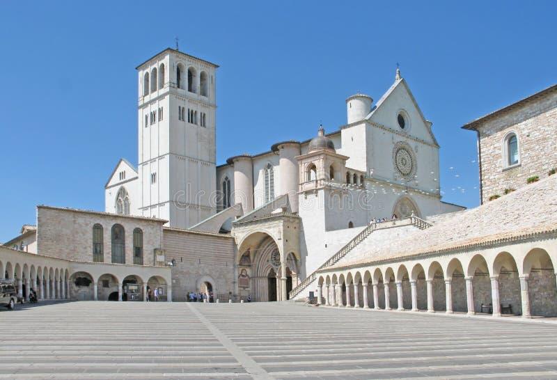 Basilica, St Francis of Assisi stock photos