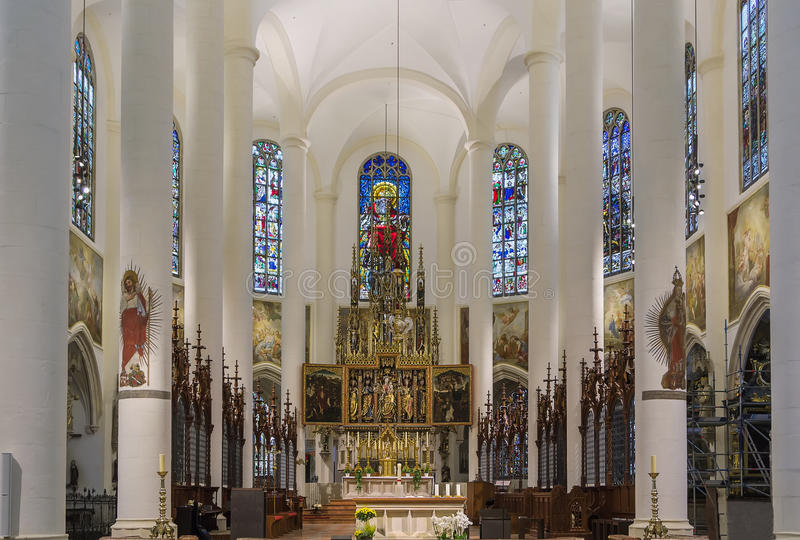 Basilica of St. Jacob, Straubing, Germany. Interior of Basilica of St. Jacob in Straubing, Germany royalty free stock photos