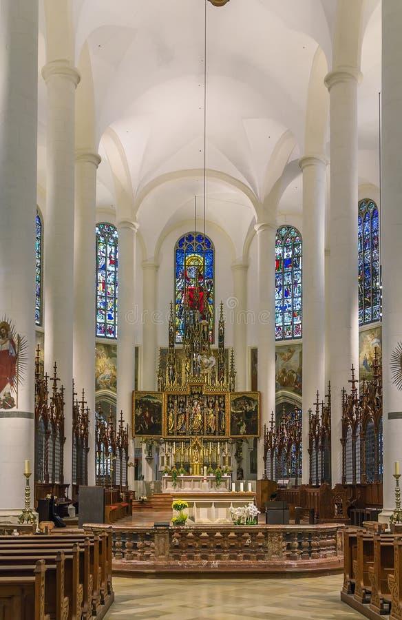 Basilica of St. Jacob, Straubing, Germany. Interior of Basilica of St. Jacob in Straubing, Germany stock images