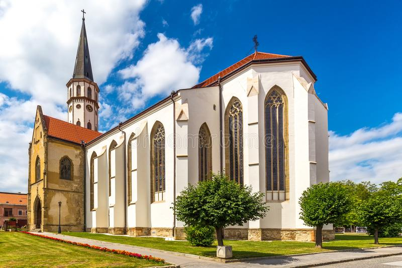 The Basilica of St. James in Levoca town, Slovakia. stock image