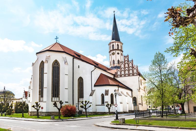 Basilica of St. James on Master Paul's Square in Old town of Levoca - UNESCO SLOVAKIA. Basilica of St. James on Master Paul's Square in Old town of stock images