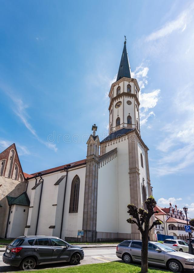 Basilica of St. James on Master Paul's Square in Old town of Levoca - UNESCO SLOVAKIA. Basilica of St. James on Master Paul's Square in Old town of stock photos