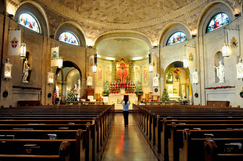 Basilica of St. Lawrence in Asheville royalty free stock photos