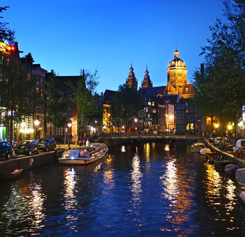 Basilica of St. Nicholas, Amsterdam, The Netherlands royalty free stock photo