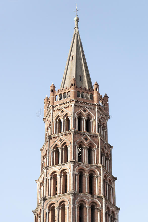Basilica of St. Sernin, Toulouse (France) royalty free stock photography