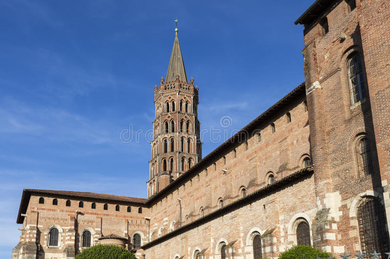 Basilica of St. Sernin in Toulouse royalty free stock image