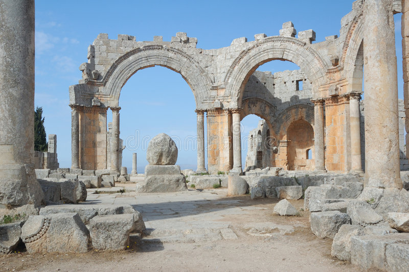 Basilica of St Simeon royalty free stock photography